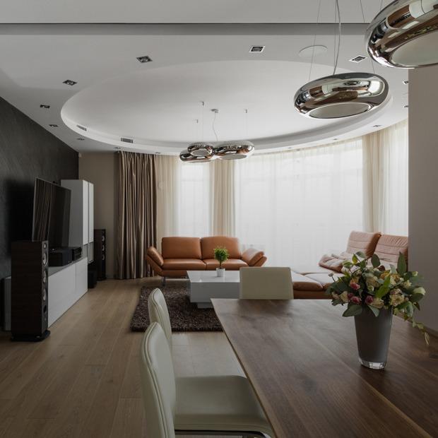 Большая квартира со строгим интерьером в «Парадном квартале» (Петербург) — Квартира недели на The Village