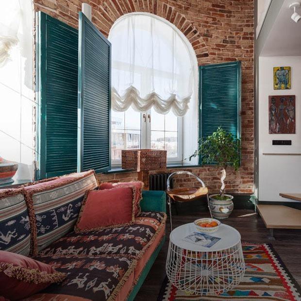 Эклектичная двухуровневая квартира для дизайнера — Квартира недели на The Village