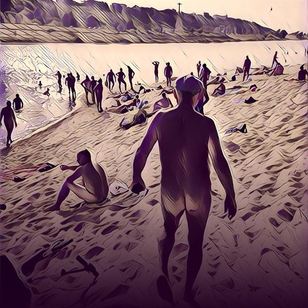 Нудисты с пляжа на Гребном канале — Люди в городе на The Village