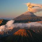 Огнедышащий монстр в Индонезии
