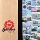 Polaroid коллаж на скейтовой деке