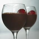Шоколадный мусс с клубникой