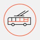 На Невском встало троллейбусное движение