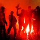 Сотни футбольных фанатов перекрыли Ленинградский проспект