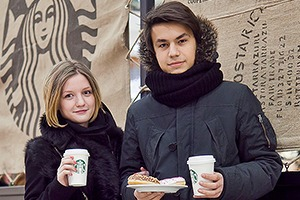 Люди в городе: Первые посетители Starbucks в Стокманне