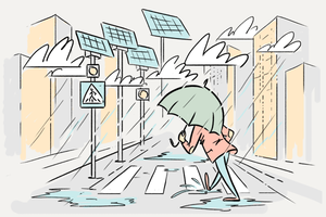 Как солнечные батареи работают в городах, где нет солнца?