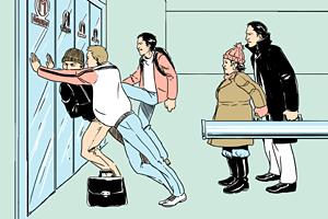 Есть вопрос: «Почему двери в метро такие тяжёлые?»