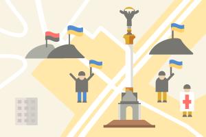 Карта протеста: Дислокация митингующих и милиции в Киеве