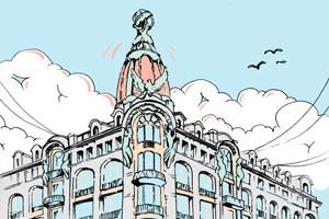 Зависит ли подсветка купола дома «Зингер» от настроения Дурова?
