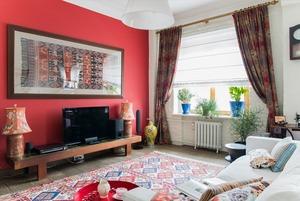Квартира в Хамовниках с лепниной и ковром ручной работы