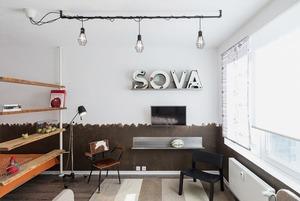 Компактная квартира в Девяткино с барной стойкой и винтажными элементами
