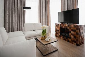 Квартира c минималистичным интерьером на Крестовском острове