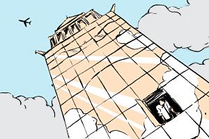 Есть вопрос: «Почему нельзя открывать окна в небоскрёбе?»