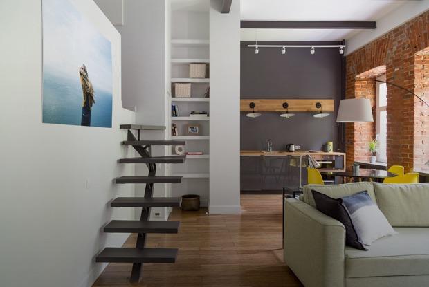 Квартира с мезонином на Смоленском бульваре