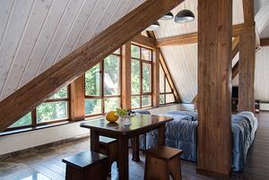 Апартаменты в стиле альпийского шале в современной интерпретации