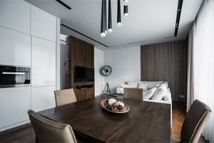 Минималистичная квартира для семьи, живущей зарубежом
