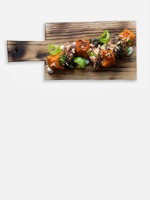 Закуска из копчёного лосося в датском стиле