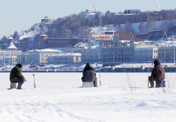 Городская зимняя рыбалка на распутье великих русских рек