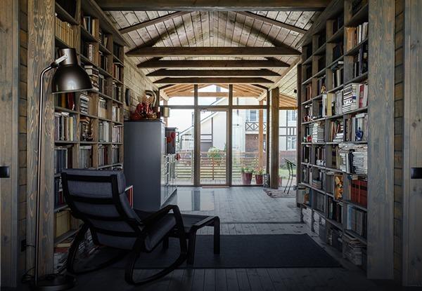 ДубльДом в Богородском районе с семейной библиотекой и красным пандусом