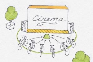 Идеи для города: Велосипедные кинотеатры в Великобритании