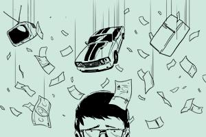 Неизвестный горожанин: Деньги на ветер