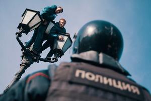 Навальный, улица, фонарь