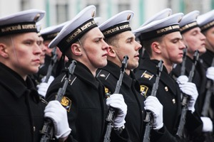 Репетиция парада Победы на Дворцовой площади