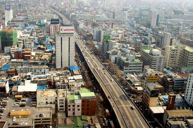 Иностранный опыт: Раскопанная река в Сеуле. Изображение № 3.