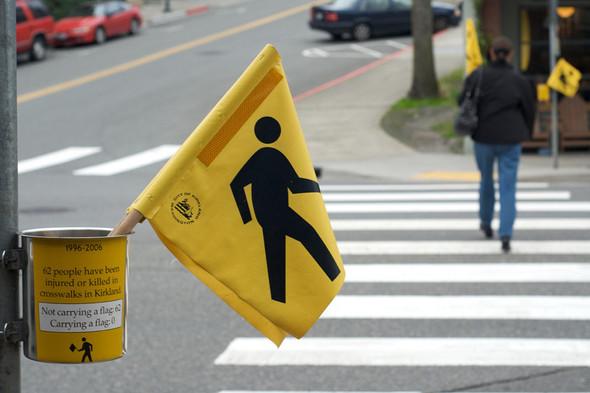 Идеи для города: Пешеходные флажки в Киркланде. Изображение № 4.