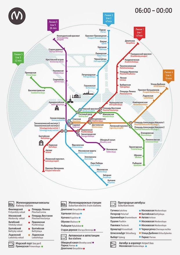 схем петербургского метро.