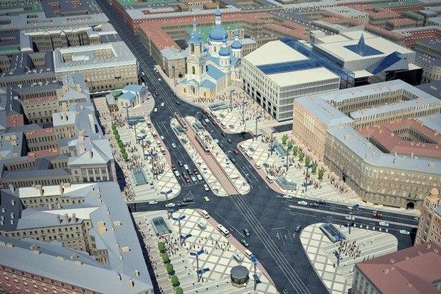 Смольный утвердил проект реконструкции Сенной площади. Изображение № 8.
