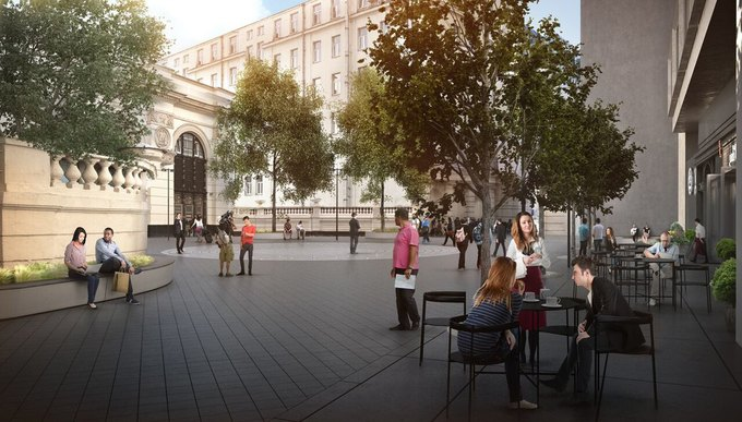 Визуализация проекта реконструкции площади у станции метро «Арбатская» Арбатско-Покровской линии. Изображение № 8.