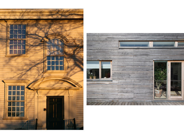 1. Хантер-хаус, Ньюпорт, США, 1748. Фото: Уилл Прайс  2. Вилла Rahoj Alle, Хёйбьерг, Дания. Архитекторы: C.F.Moller Architects, 2005 Фото: Julian Weyer. Изображение № 11.