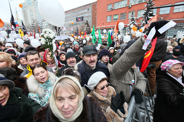 Митинг «За честные выборы» на проспекте Сахарова: Фоторепортаж, пожелания москвичей и соцопрос. Изображение № 39.