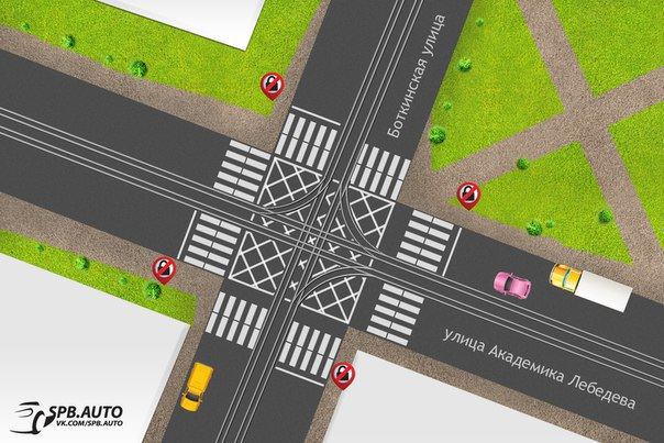 Горожане предлагают новую разметку на перекрёстках. Изображение № 1.