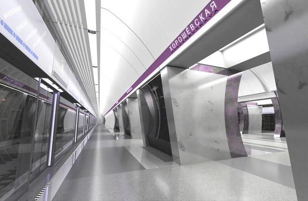 Проект станции «Хорошевская». Изображение с сайта «Метрогипротранса». Изображение № 2.