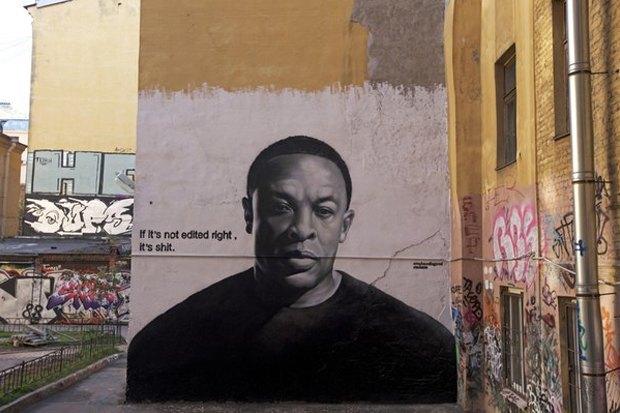 Авторы портретов Цоя иЭйнштейна— об идее легализовать граффити вПетербурге. Изображение № 2.