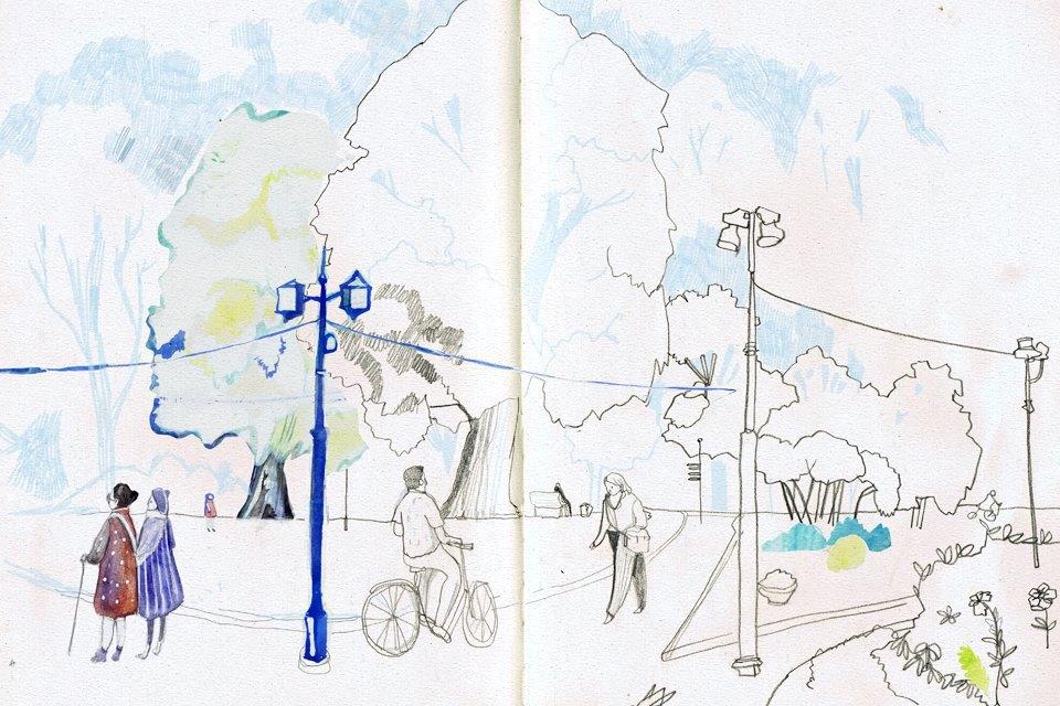 Клуб рисовальщиков: Екатерининский парк. Изображение № 4.