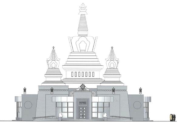 На Поклонной горе построят буддийский храм. Изображение № 2.