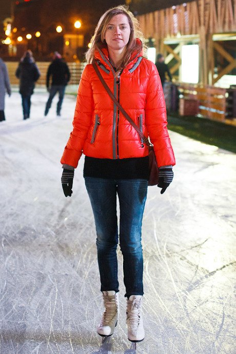 Люди в городе: Первые посетители катка в парке Горького. Изображение № 36.