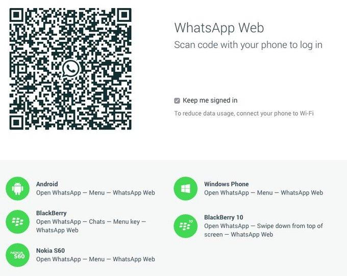 WhatsApp запустил веб-версию своего мессенджера. Изображение № 1.
