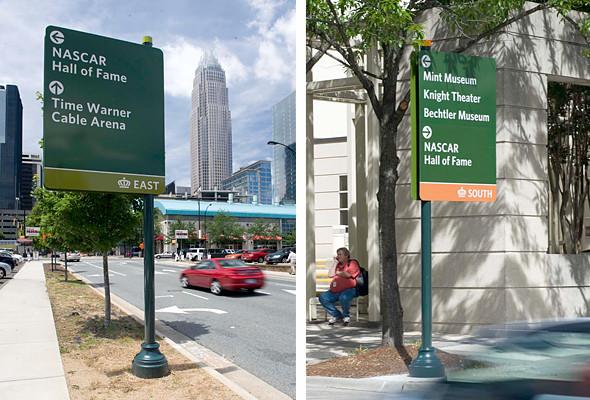 Дорожные знаки и уличные указатели в различных частях города имеют соответствующий окрас, сообщающий приезжим их местонахождение.. Изображение № 24.
