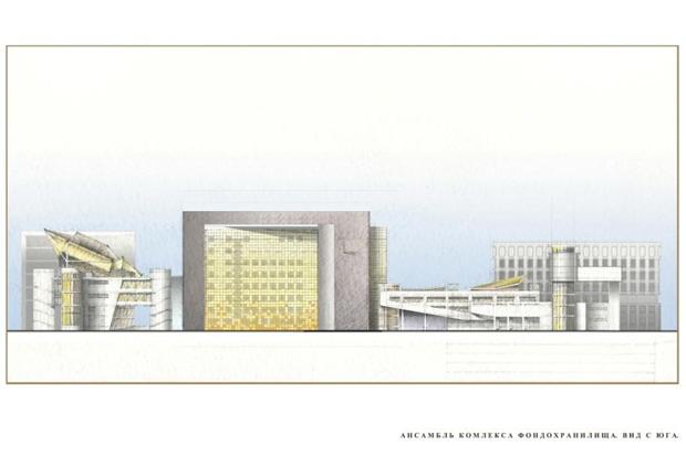 Архитектурное решение комплекса фондохранилища. Вариант 2. Изображение № 5.