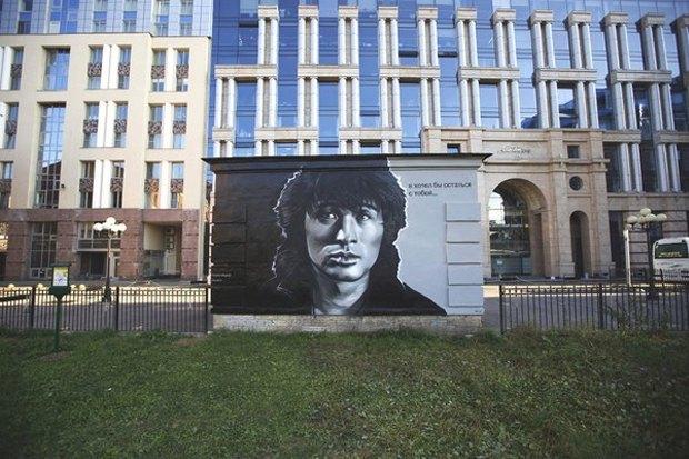 Авторы портретов Цоя иЭйнштейна— об идее легализовать граффити вПетербурге. Изображение № 6.
