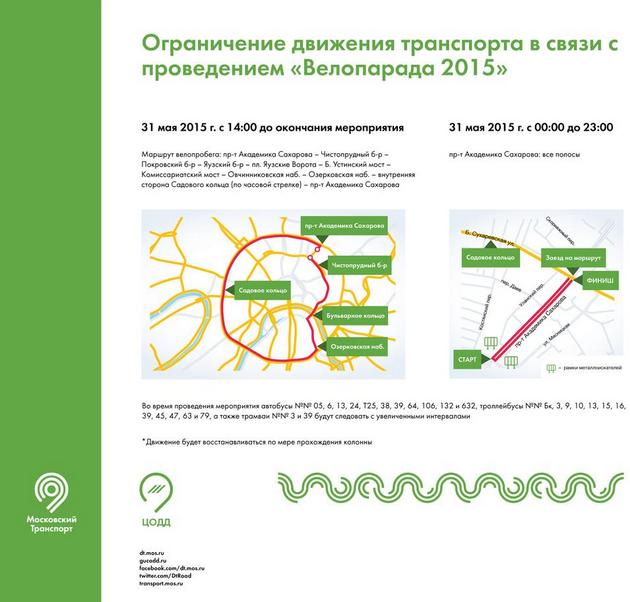 Несколько центральных улиц в Москве перекроют из-за велопарада. Изображение № 1.