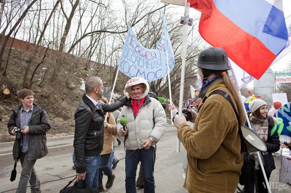 В Москве прошло арт-шествие в честь Дня космонавтики. Изображение № 24.
