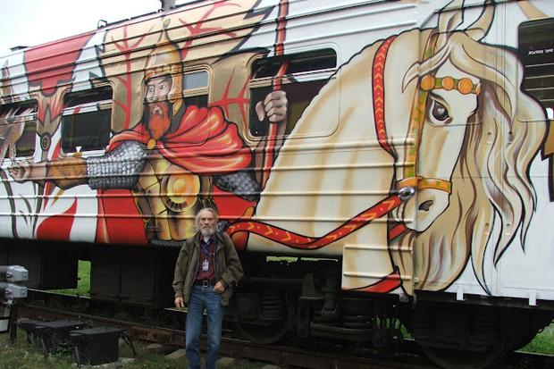 Электричка с граффити будет курсировать между Петербургом и Новгородом. Изображение № 3.