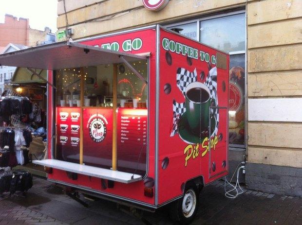 На Сенной площади появился фургон с кофе с собой . Изображение № 1.