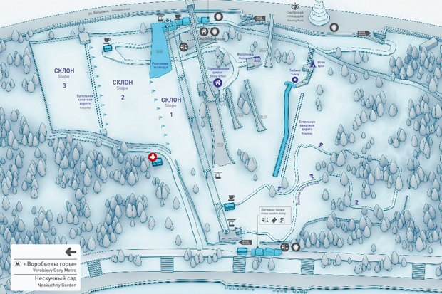 На Воробьёвых горах открылись горнолыжные склоны. Изображение № 1.