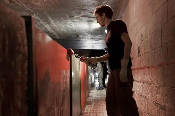 Добровольцы разукрасили туннель около «Винзавода». Изображение № 5.